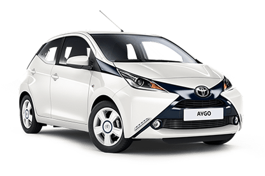 Toyota Aygo for hire from Condor Self Drive